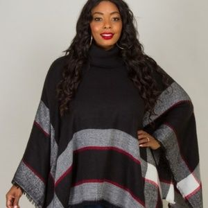 Sweaters - Cow Neck Poncho